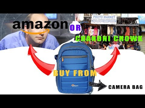 LOWEPRO TAHOE BP 150 CAMERA BAG UNBOXING AND REVIEW!!!  BUY FROM CHANDNI CHOWK OR AMAON????