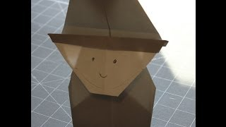 How To Make An Origami Pilgrim For Thanksgiving