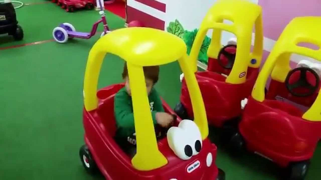 Indoor Playground For Kids They Drive Little Toys Cars