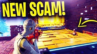 *NEW SCAM* Fall Through Floor Trap Scam BEWARE! Scammer Gets Exposed In Fortnite Save The World