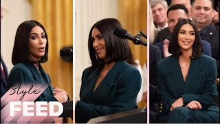 Kim Kardashian Wore a $72K Outfit to the White House | ET Style Feed