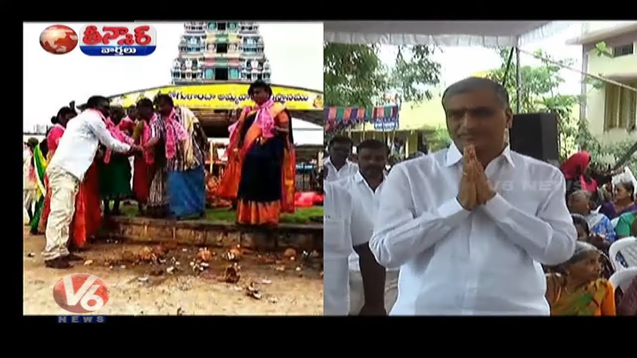 Trs Worker Want Harish Rao To Become Cm Breaks Coconuts In