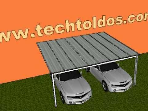Projeto Techtoldos Garagem Para Dois Carros Youtube