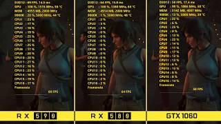 AMD RX 590 vs RX 580 vs NVIDIA GTX 1060 | 1080p Benchmarks