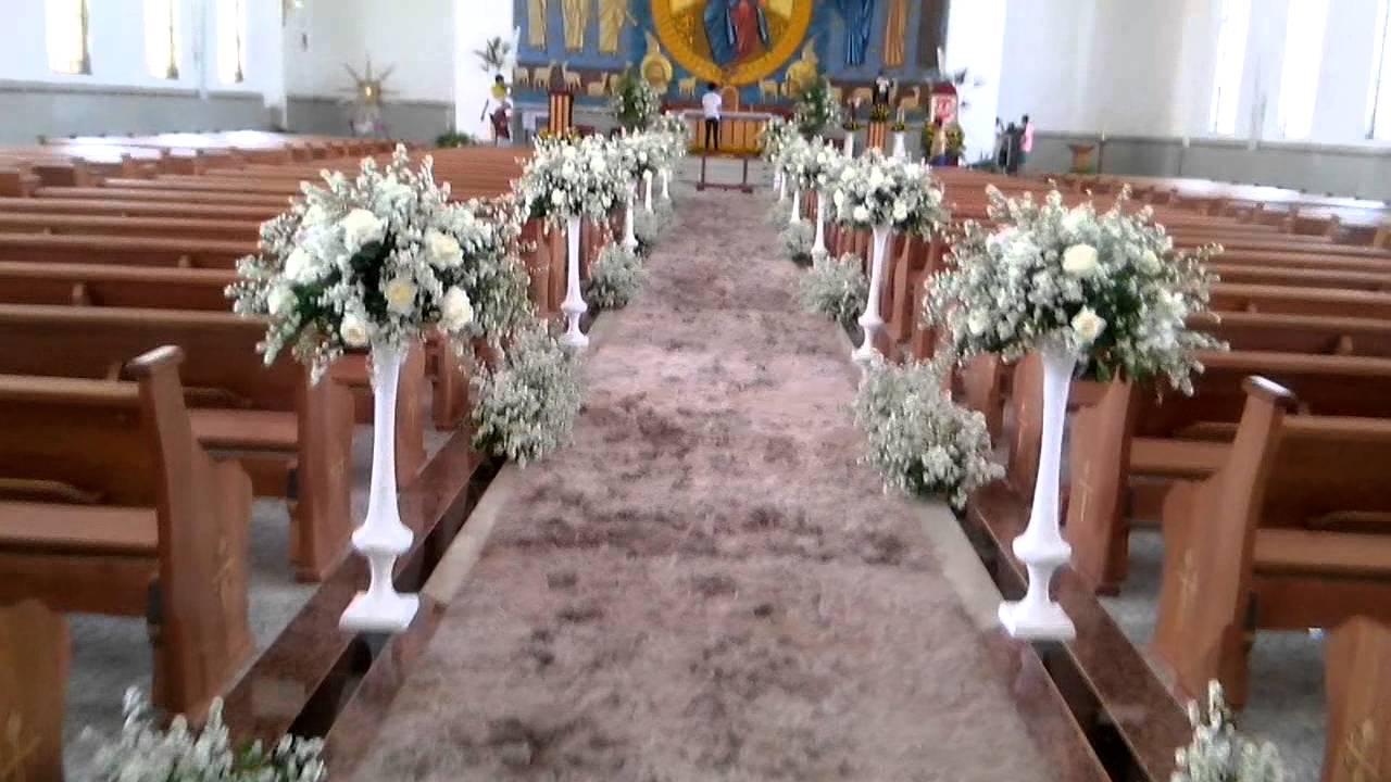 Decoraç u00e3o de igreja para casamento Nerópolis YouTube -> Decoração Simples Para Festividade De Igreja Evangelica
