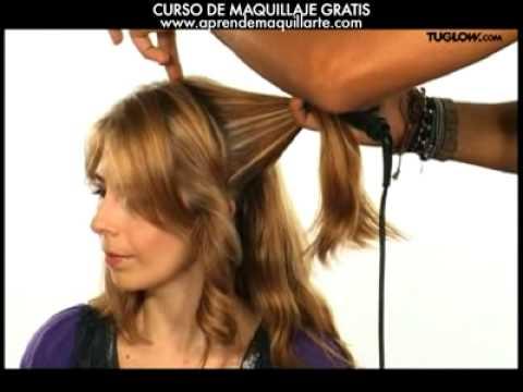 peinados: cabello ondulado paso a paso - ondas con plancha - youtube