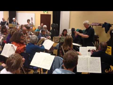 Plymouth Symphony Orchestra rehearsal for November 2011 Concert in Plymouth