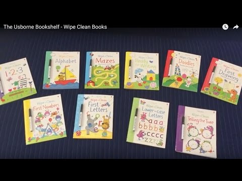 The Usborne Bookshelf - Wipe Clean Books