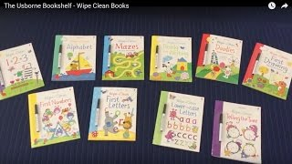 The Usborne Bookshelf - Wipe Clean Books