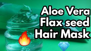 Flaxseed and aloe vera gel hair mask for hair growth Conditioner Hair gel Benefits in Hindi
