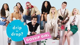 The Gossip Girl Reboot Cast Reacts to Original Gossip Girl 2000s Fashion   Drip or Drop?