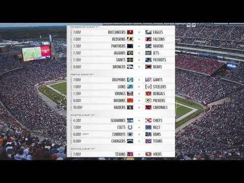 2016 NFL Preseason Week 1 Schedule