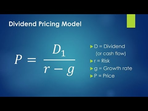 Dividend Pricing Model - Part 2 (Calculation)
