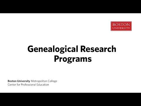 Genealogical Research Certificate At Boston University