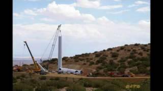 Vestas V90 - 3 MW Wind Turbine Grading, Foundation & Erection TimeLapse