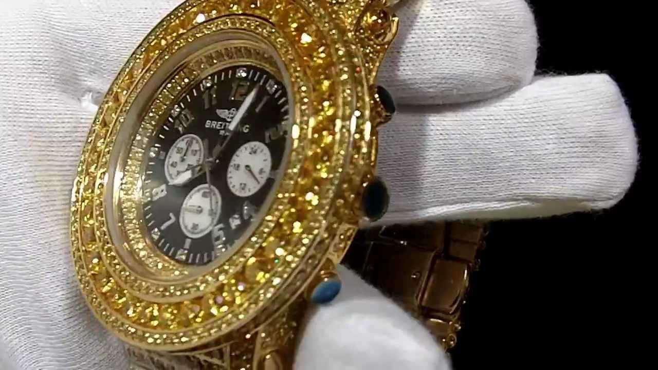 gold canary sim diamond breitling watch lab rick ross two