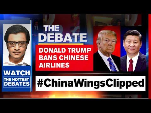 India-US Partnership Corners China; Trump Bans Chinese Airlines