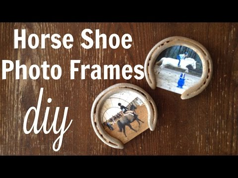 horse crafts make your own horseshoe photo frame