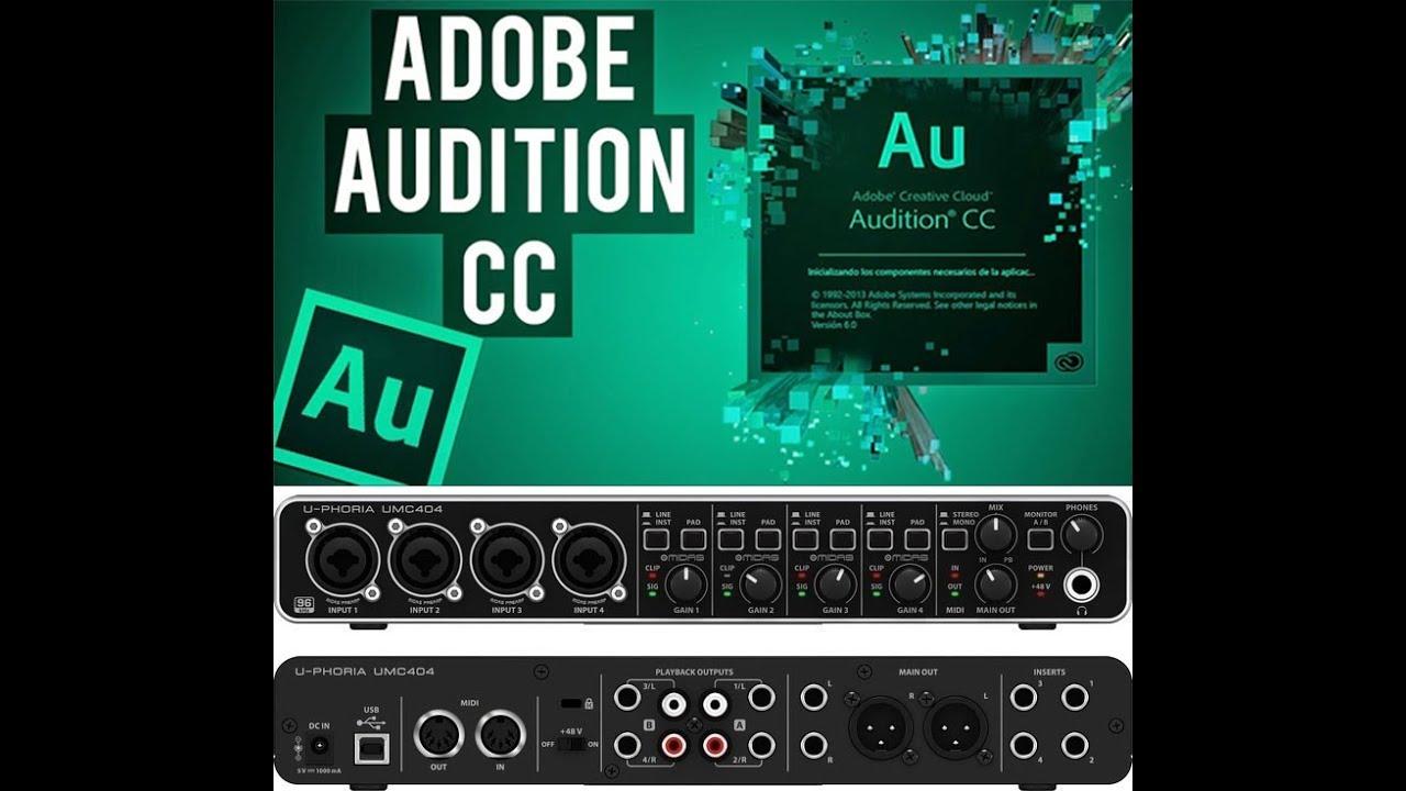 Adobe Audition cc 2018 em U-Phoria UMC404HD