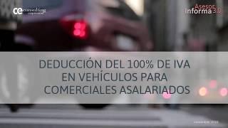 Deducción del IVA: vehículos para comerciales asalariados | Asesor Informa 3.0
