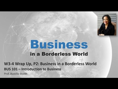 BUS 101 - Introduction to Business: Wrap-Up - Weeks 3-4, Part 2