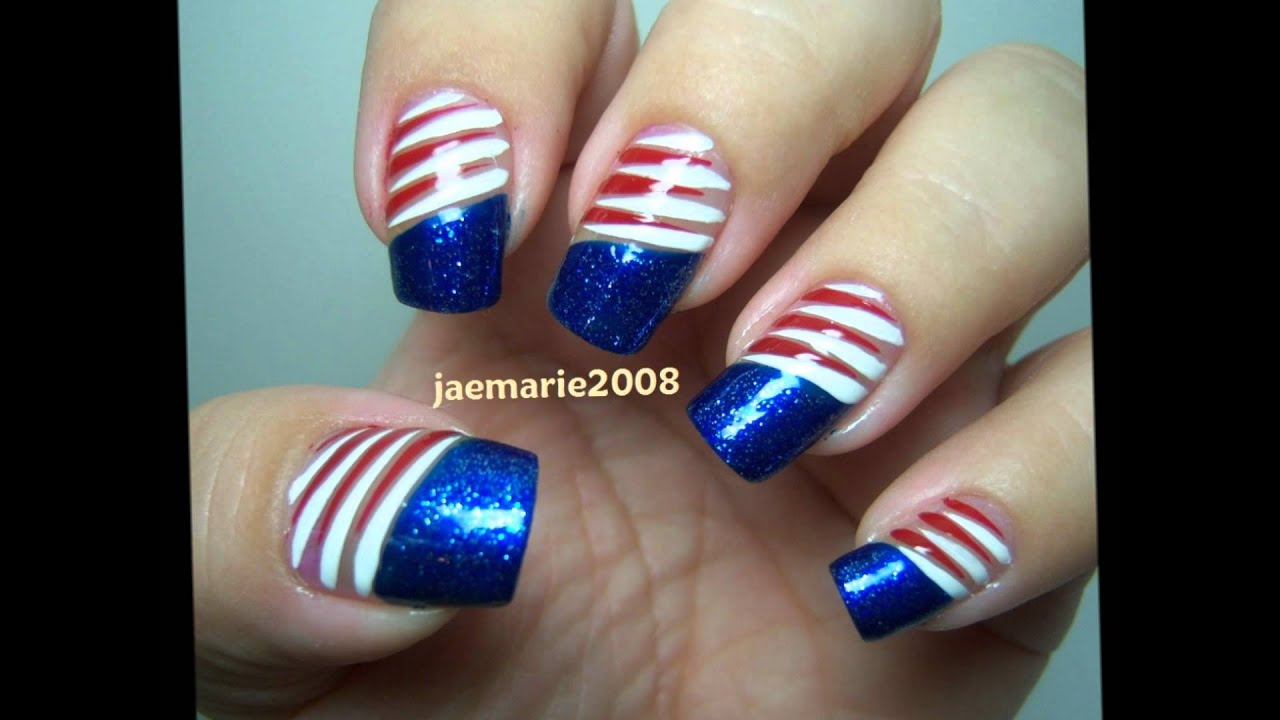 4th of july nail designs ideas youtube prinsesfo Image collections