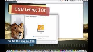 Hướng dẫn Mac OS: Tạo USB khôi phục Recovery Disk Assistant