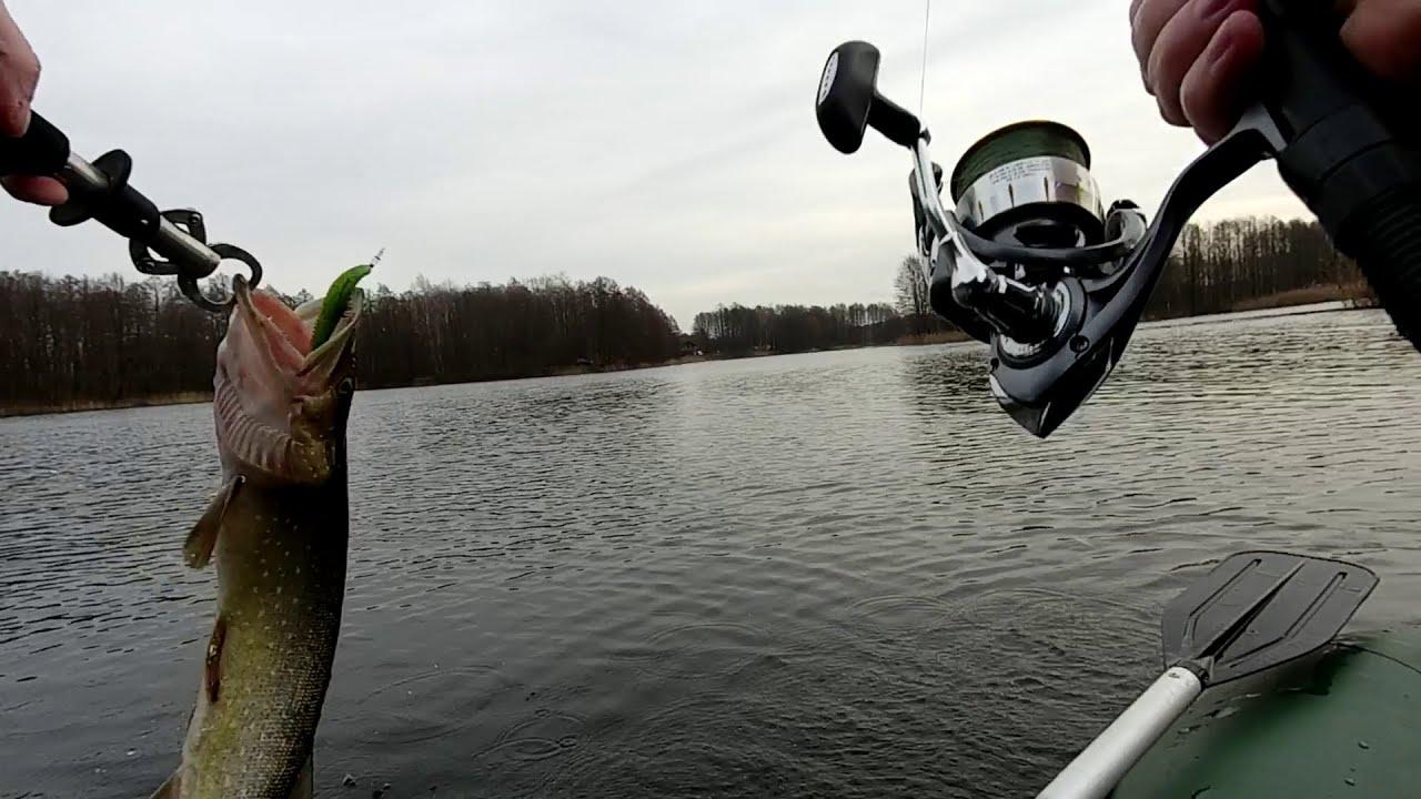 Щука на спиннинг в январе! Рыбалка в Калининграде.