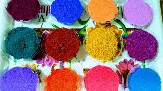 How to prepare Rangoli-colours at home without using sand........