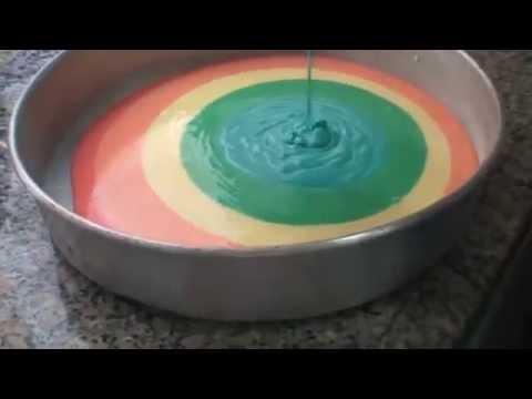 Como fazer... Bolo colorido!