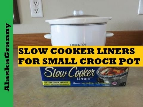 Slow Cooker Liner In A Small Crock Pot Easy Clean Up