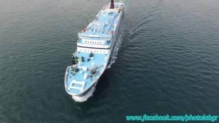 الجوي (الطائرات بدون طيار) فيديو - F/B الأكاديمية العالية ، الأكاديمية العالية Rodos مغادرة ميناء بيريوس