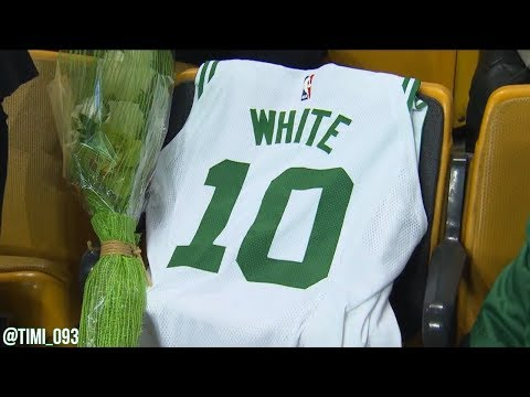 Boston Celtics honoring franchise legend Jo Jo White (01/18/2018)