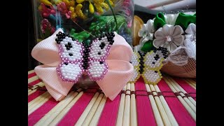 Бабочка из бисера кирпичным стежком. Мастер класс//Butterfly made of beads with a brick stitch//DIY