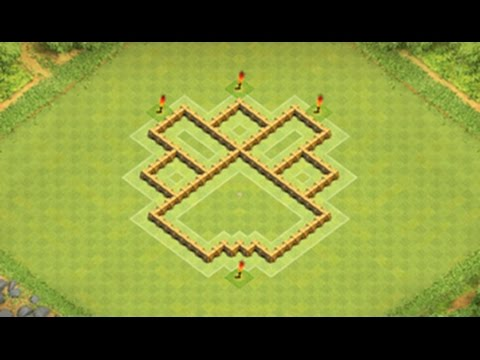 Clash of clans th5 pro hybrid base youtube