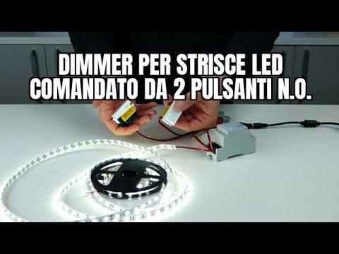 Schema Elettrico Dimmer : Come collegare un dimmer per strisce led comandato da pulsanti
