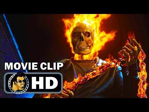 GHOST RIDER Clips + Trailer (2007) Nicolas Cage Marvel Comics