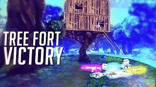 TREE FORT BUILD! VICTORY ROYALE Fortnite Battle Royale