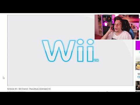 ElRubius cantando la canción de la plaza Mii de la Wii