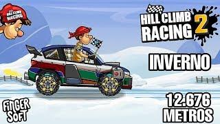 12.676 METROS NO INVERNO COM O CARRO DE RALLY   Hill Climb Racing 2