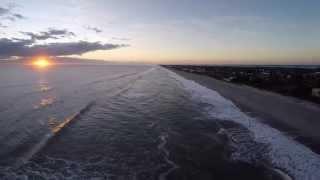 Drone over Melbourne Beach Florida