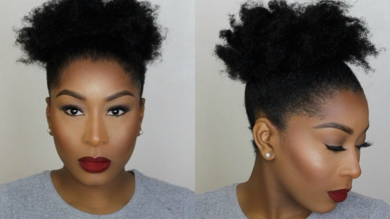 high puff short natural 4c hair