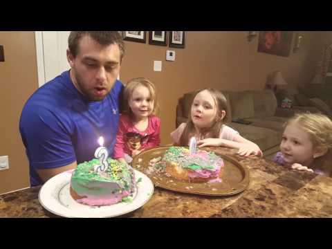 Kids sing Happy Birthday to Daddy 30th Birthday Celebration