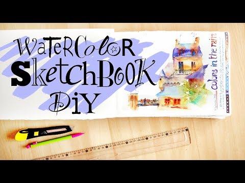Create your own WATERCOLOR SKETCHBOOK !! DIY Journal #1