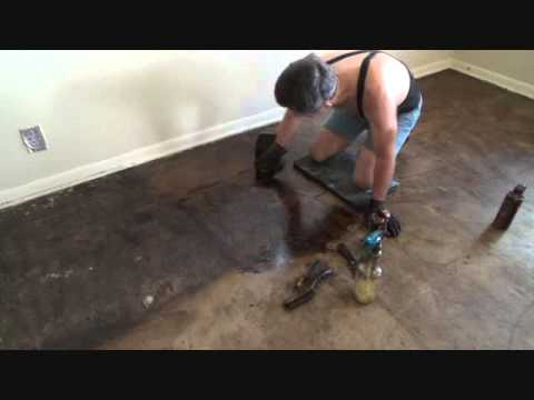 How To Remove Black Tar Adhesive From A Concrete Floor Youtube