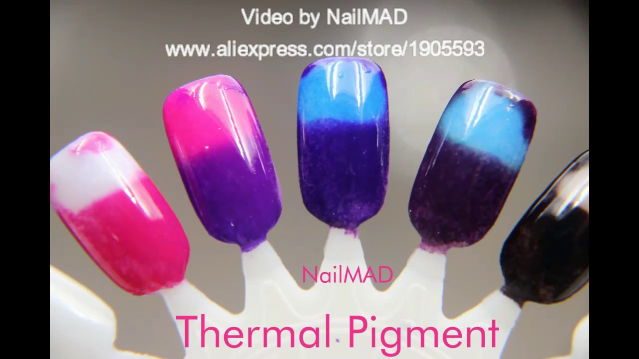 DIY Temperature Color Changing Nails Thermal Gel Nails - YouTube