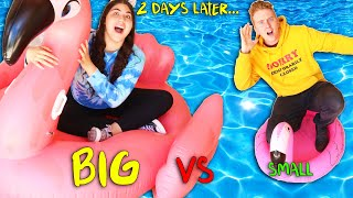 LAST TO LEAVE THE FLOATY WINS! BIG VS SMALL!