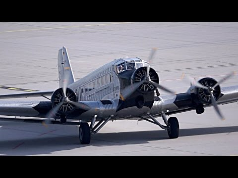 Junkers Ju 52/3m on a Visit To Leipzig/Halle Airport (Germany)
