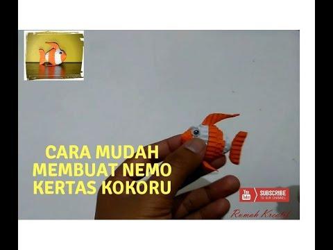 EASY KOKORU: How to make a nemo kokoru paper- bagaimana membuat ikan nemo dari kertas kokoru