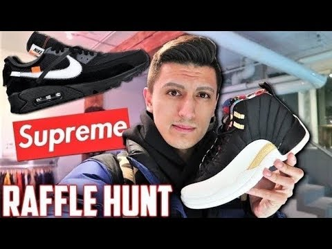 215669ac6c1a Sneaker Shopping for Off White Nike Air Max 90! Did SUPREME Air Max  Restocked